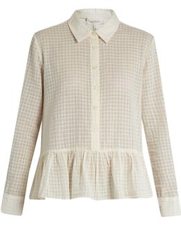The Ruffle Point-collar Cotton Shirt