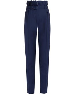 Beatrice High-rise Slim-fit Wool Trousers