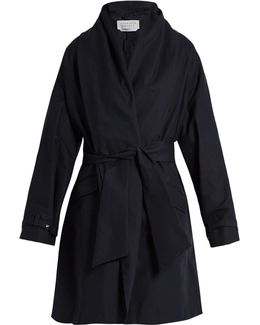 Audley Draped Cotton Cocoon Coat