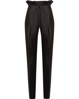 Margarete Slim-leg Silk And Wool-blend Trousers