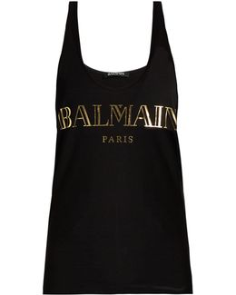 Logo-print Cotton-jersey Tank Top