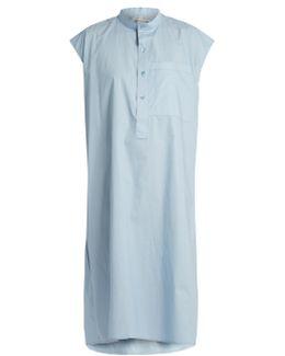 Cotton-poplin Sleeveless Dress