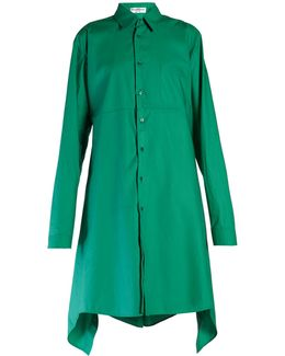 Fold-back Cotton-poplin Shirtdress