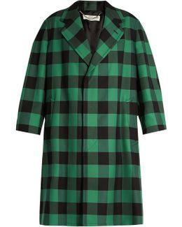 Godfather Checked Oversized Coat