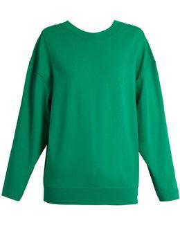 Logo-embroidered Cotton Sweatshirt