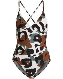 Camo-print Swimsuit