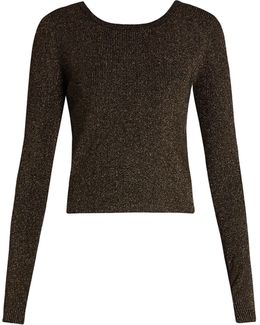 Chance Wrap-back Lamé Sweater