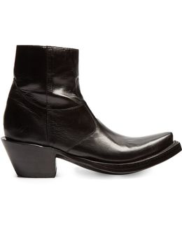X Lucchese Leather Ankle Boots