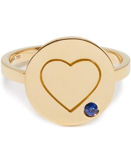 Heart Sapphire & Yellow-gold Ring