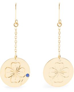 Clover Sapphire & Yellow-gold Earrings