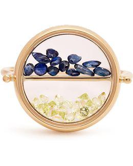 Sapphire, Peridot & Yellow-gold Ring