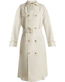 Double-breasted Silk Trench Coat