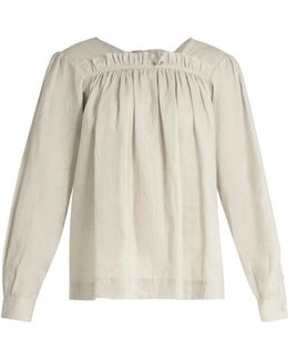 Vivien Gathered Voile Top