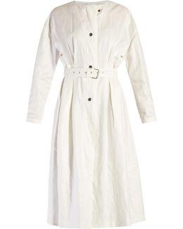 Ivo Collarless Linen Coat