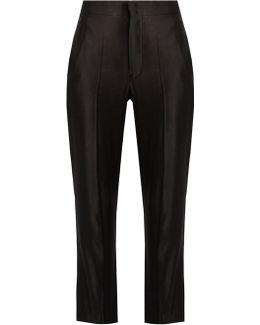 Roan High-rise Sandwashed-satin Trousers