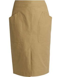 Stanton Patch-pocket Cotton-blend Skirt