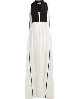Cypress Geometric-jacquard Silk-blend Dress