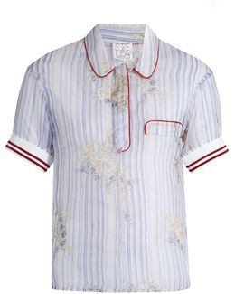 Striped Silk-organza Shirt