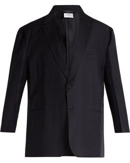 X Brioni Oversized Single-breasted Wool Jacket