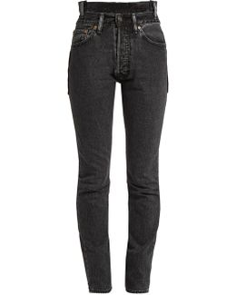 X Levi's Reworked High-waisted Skinny Jeans