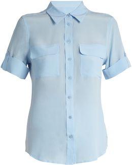 Signature Short-sleeved Silk Shirt