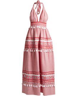 David Halterneck Cotton Maxi Dress