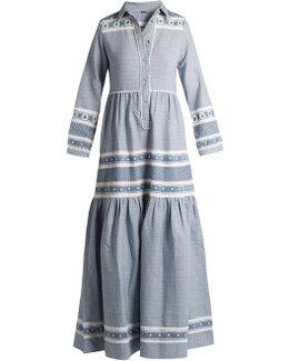 Blue & White Cotton Mona Dress