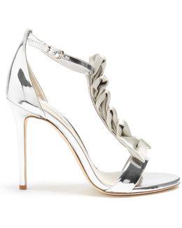 La Delicate T-bar Leather Sandals