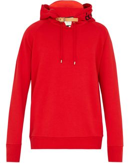 Detachable-peak Cotton Sweatshirt