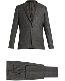 Soho-fit Checked Wool Suit