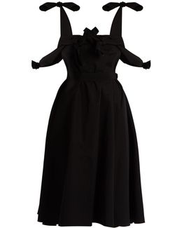 Tie-waist Cotton-poplin Dress