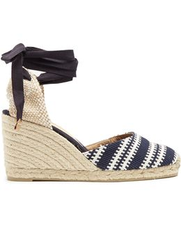 Carina Woven Wedge Espadrilles