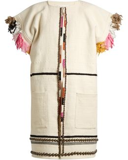 Nazca Embellished Cotton And Wool-blend Coat