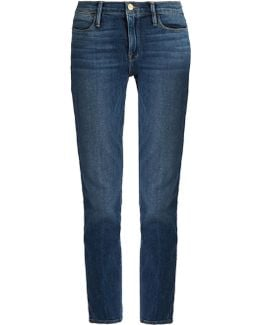 Le High Straight-leg Cropped Jeans