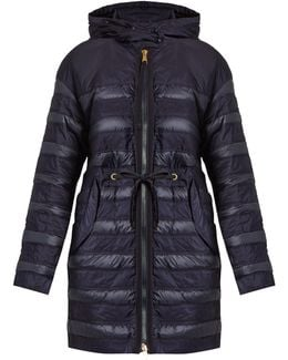Scille Hooded Panelled Quilted Down Coat