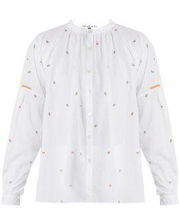 Kahano Embroidered Round-neck Cotton Shirt