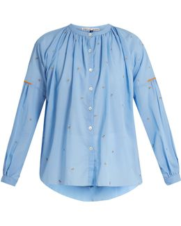 Kahano Embroidered Cotton Top