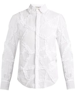 Ruffled Cotton-organdie Shirt