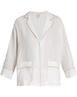 Silk-satin Pyjama Top