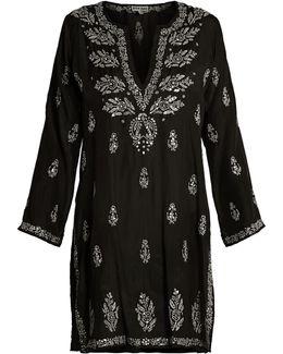 Embroidered Silk Kaftan