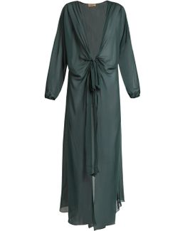 Long-sleeved Silk Cover-up