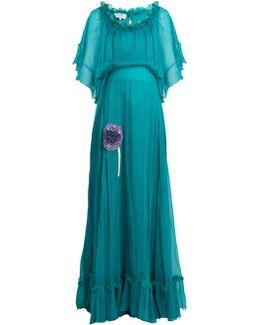 Bead-embellished Silk-georgette Dress