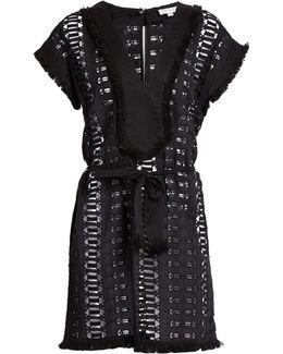 Ayara Embroidered-cotton Playsuit