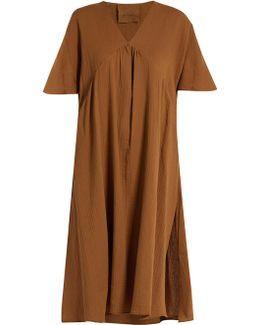 Abid Fluted-sleeve Cotton Kaftan