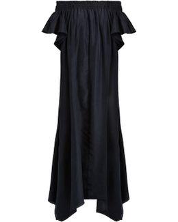 Hydra Off-the-shoulder Silk Dress
