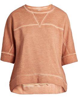 Charlot Wide-sleeved Cotton Sweatshirt