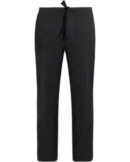 Drawstring-waist Stretch-cotton Trousers