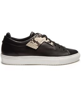Patch Low-top Leather Trainers