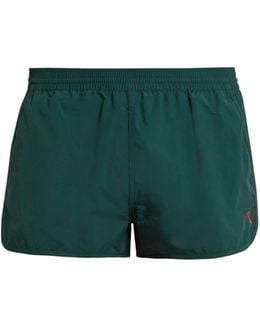 Heart-embroidered Swim Shorts