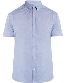 Short-sleeved Cotton-piqué Shirt